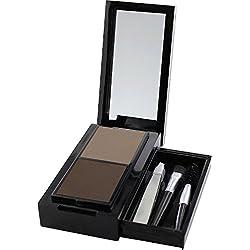 Sante Cosmetici naturali Eyebrow Talent Kit, Set in polvere, Applicatore per Sopracciglia, buerstchen & pinzette, Carminio libero, natural Make Up, 20G