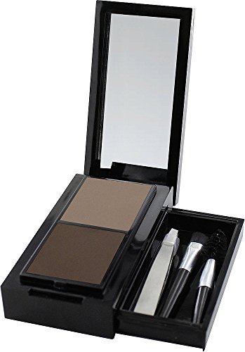 SANTE Naturkosmetik Eyebrow Talent Kit, Set aus Augenbrauenpuder, Applikator, Bürstchen & Pinzette, Karminfrei, Natural Make-up, 2,4 g 2.4 G Kit