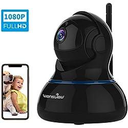 Caméra Surveillance WiFi -- Wansview Wireless Cloud Caméra IP - IP Webcam Caméra de Sécurité HD 1080P, Bébé/Animaux Domestiques Moniteur Q3s (Noire) 〖Nouvelle Version〗