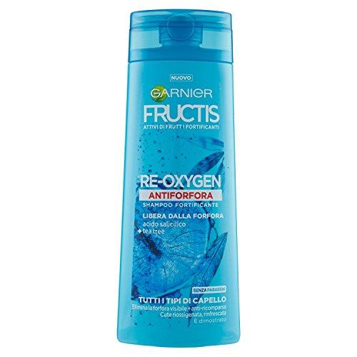 Garnier fructis re-oxygen shampoo antiforfora per tutti i tipi di capello, 250 ml