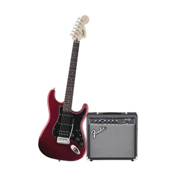 Fender 0301814609 Electric guitar Solid 6strings Black, Red guitar – Guitars (6 strings, Nickel steel)