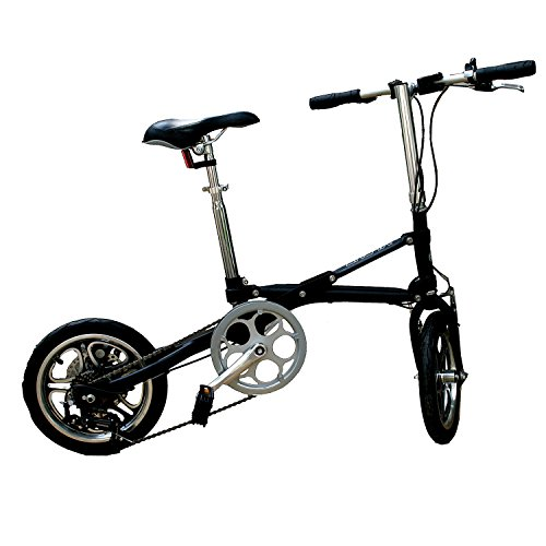 AdraXx Super Folding Bike For City And Vacations With 7 Speed Gears (Black)