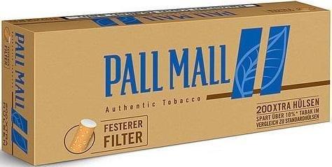 Pall Mall Authentic Blue Xtra 1000 Stück (5x200) (Hülsen, Filterhülsen, Zigarettenhülsen)