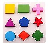 Omiky® Kinder Baby Holz Geometrie Bausteine Puzzle Früherziehung Pädagogisches Spielzeug (A)