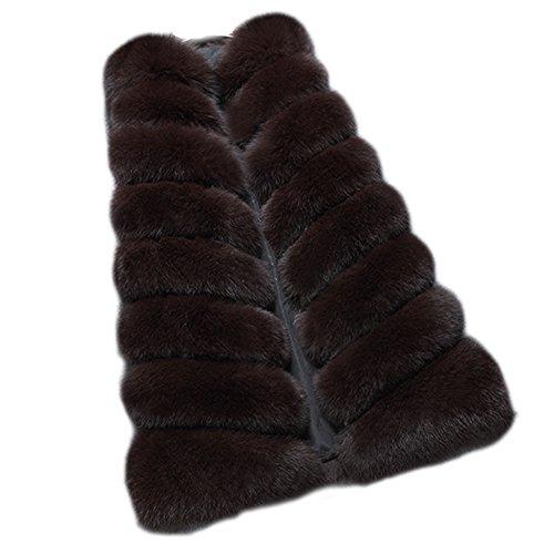 FOLOBE Womens 'Winter Warm Faux Pelz Weste Mantel Jacke (Jacke Mantel Pelz Weste)