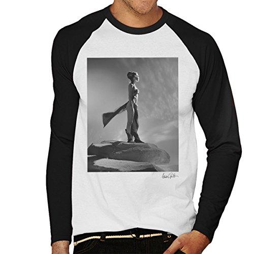 Brian Griffin Official Photography - Star Wars Behind The Scenes Princess Leia Gold Bikini White Men's Baseball Long Sleeved T-Shirt (Gold Leia Bikini)