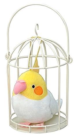 Soft and Downy Basket Mascot Soft Stuff Plush Doll Ball Chain Cockatiel