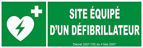 novap–Panneau–Website Equipe eines defibrillateur–450x 150mm Hartschale