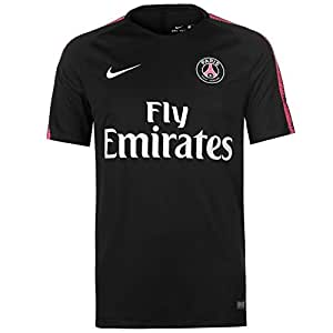 Nike Paris Saint-Germain Breathe Squad T-Shirt Homme, Black/Hyper Pink/White, s