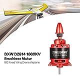 Dailyinshop DXW D2814 1000KV 3-4 S Außenborder Brushless Motor für RC Fixed Wing Flugzeug, rot