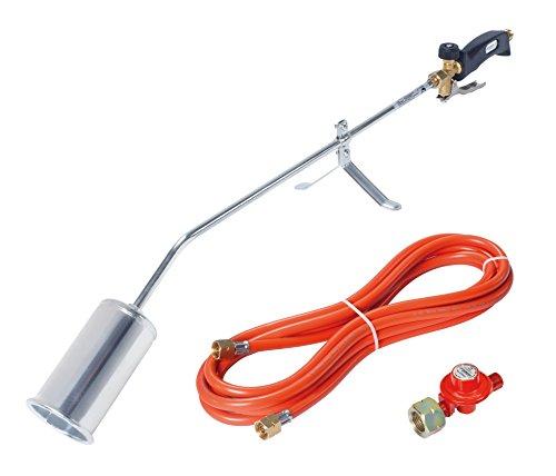 Rothenberger Industrial Anwärmbrenner/Abflammgerät, RoMaxi Eco, inkl. 5 m Propangasschlauch und 4 bar Druckregler - VERSION DEUTSCHLAND