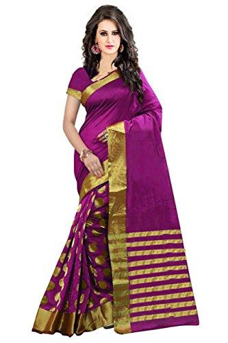 Perfectblue Cotton Silk Saree (Pb0Majentagoli1_Majenta)