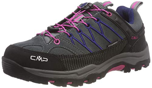 CMP Unisex-Kinder Rigel Low Wp-3Q13244 Trekking-& Wanderschuhe, Grau (Grey-Hot Pink), 34 EU