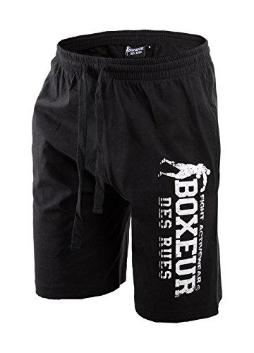 Boxeur Des Rues Fight Activewear Short da Allenamento con Stampa, Nero, M