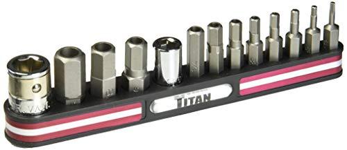 Sae Hex Bit (Titan Tools 1613540Tamper Resistant SAE Hex Bit Socket Set-13Stück)