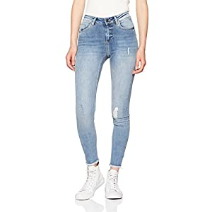 ONLY Damen Skinny Jeans Onlblush Mid Sk ANK Raw Jeans Rea333noos