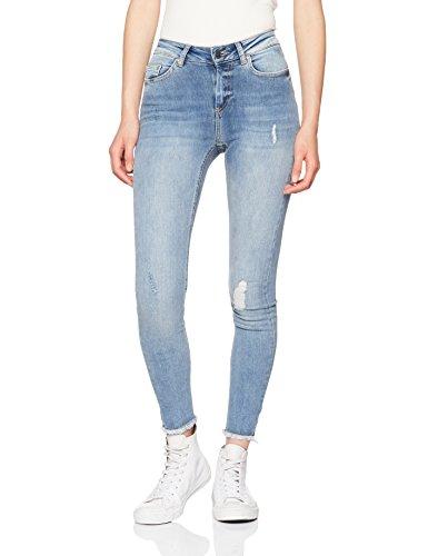 ONLY Damen Skinny Jeans 15151895, Blau (Light Blue Denim), 40/L30 (Baumwolle-5-pocket-jean)