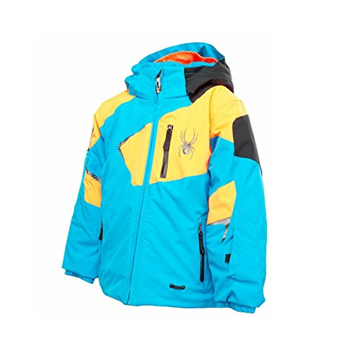 Spyder Mini Leader Jacket Kids - electric blue/bryte orange/black (Mini Kids Jacket)