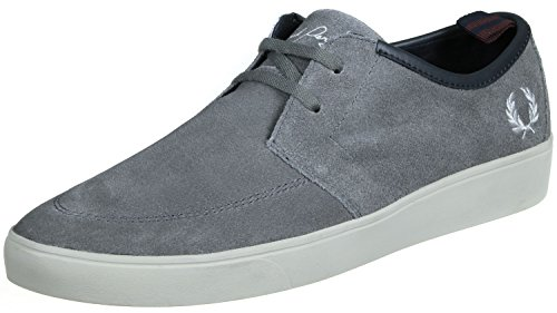 Fred Perry Shield Suede Chaussures Grey