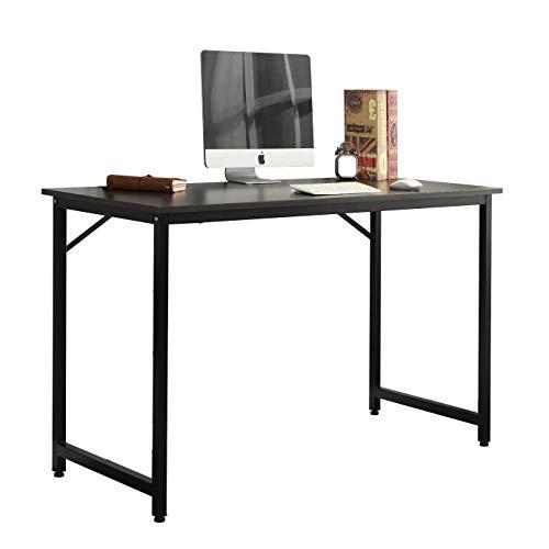 sogesfurniture Schreibtisch Computertisch Klein, Kompakt Esstisch Arbeitstisch Bürotisch für PC und Laptop, aus Holz und Metall, BHT ca.100x50x75cm, Schwarz WK-JJ100-BK-BH -