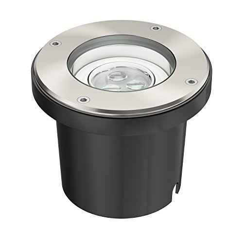 parlat LED Boden-Einbauleuchte für außen, schwenkbar, warm-weiß, IP67, 230V, 155mm Ø