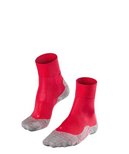FALKE Damen Socken Laufsocken RU4 - 1 Paar, Gr. 39-40, rot, feuchtigkeitsregulierend, Sportsocken Running