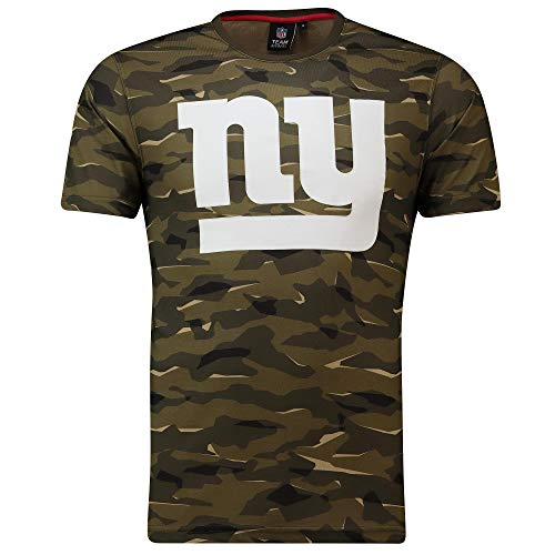 Majestic Athletic NFL Football T-Shirt New York NY Giants Logo Tee T Camo Camouflage (XX-Large) -