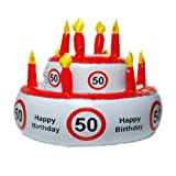 Aufblasbare Geburtstagstorte 50