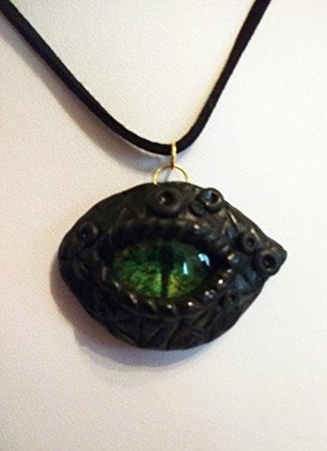 Med-kette (Drachenauge Anhänger Leder Halskette)