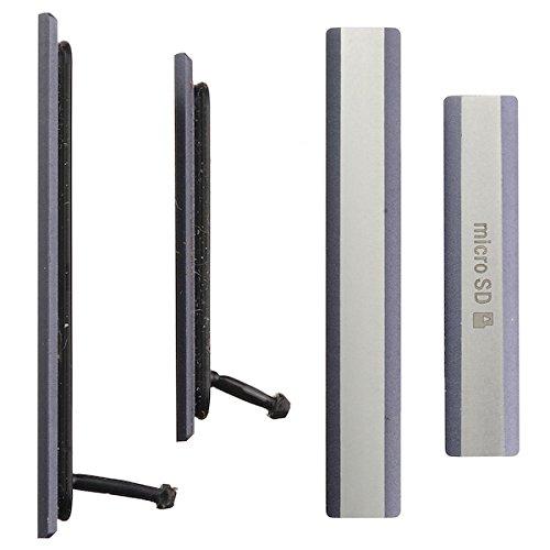 BisLinks® Sony Xperia Z2 D6502 D6503 Micro SD + Sim Card USB Charging Puerto Cubrir Negro Reemplazo