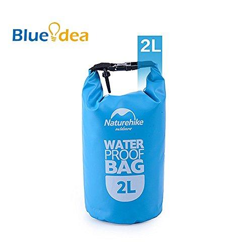 Blueidea® Borsa Sport Outdoor Portatile Impermeabile Borsa da Viaggio Per la Nautica, Kayak, Escursioni, Snowboarding, Camping, Rafting, Pesca, Canoa (Blu, 2L)