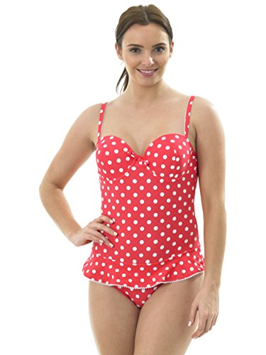 5cbdce8c9dd0d ladies underwired candy spot swimsuit candy pink 12