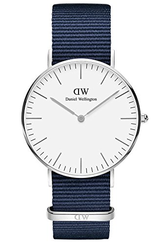 Daniel Wellington Unisex Adult Analogue Quartz Watch with Nylon Strap DW00100280