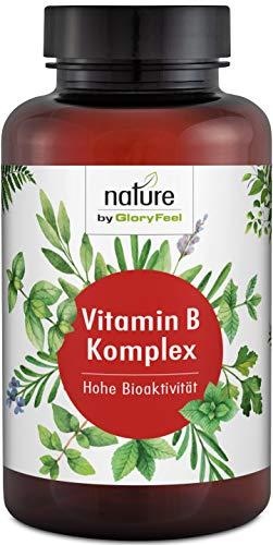 Vitamin B Komplex Plus - 200 Vegane Kapseln - Höchstdosierter Vitamin-B-Kompex - Alle 8 B-Vitamine in bio-aktiven Formen - Höchste Bioverfügbarkeit - Laborgeprüfte Herstellung in Deutschland