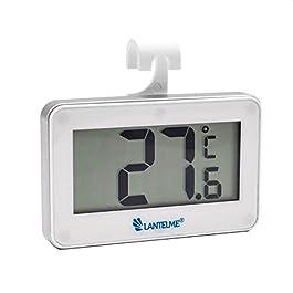 Lantelme 5952Digital Auto Termometro Bianco–Auto interno termometro indicatore della temperatura da -20a + 60°C