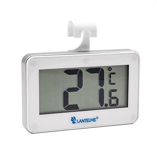 Lantelme 5952 Digital Autothermometer Weiss - Auto Innen Thermometer Temperaturanzeige -20 bis + 60 °C