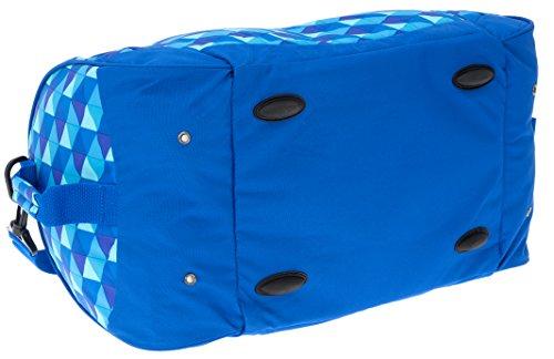 2 Teile SET: YZEA Sporttasche SPORTS by Take it Easy 29016 + Trinkflasche CO2 (WAVE 630 (blau orange)) PIN 620 (blau karo)