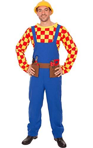 Helm Kostüm Bob - ORION COSTUMES Adult Bill The Builder Costume