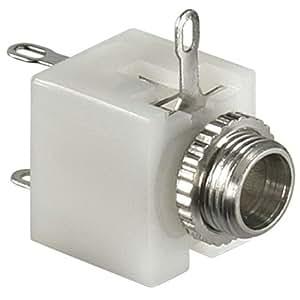 AVE-a câble audio mono petite prise jack 3,5 mm femelle pour installation de sonorisation 3 broches 3 pôles connecteur aUX iN/oUT en plastique noir pour par exemple micro-casque-haut-parleurs