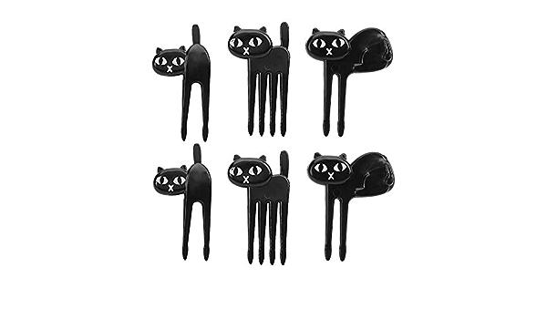 Gshy Fruits Cure-Dents fourchettes /à Dessert pour Home D/écoration de f/ête Plastique Fourmis Animal fourchettes Mise en Bouche 12 pi/èces Noir