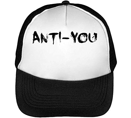 5715624d1 CapWorld Anti - You Funny Black Fashioned Slogan Men's Baseball Trucker Cap  Hat Snapback Black White