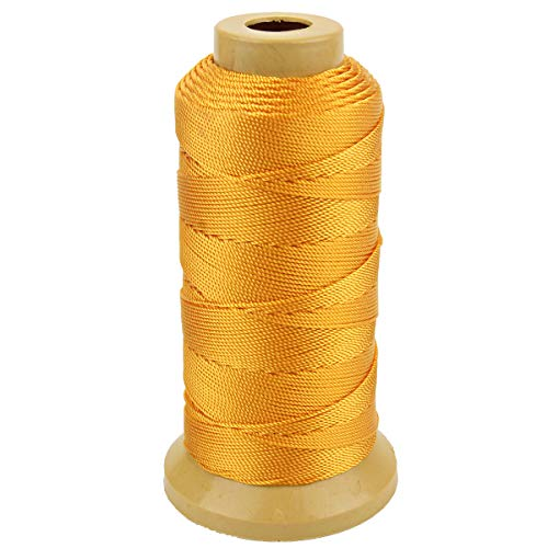 Twisted Nylon Linie Schnur String Cord für Gartenarbeit Marking DIY Projects Crafting Mauerwerk (Gold, 1mm-656 feet) -