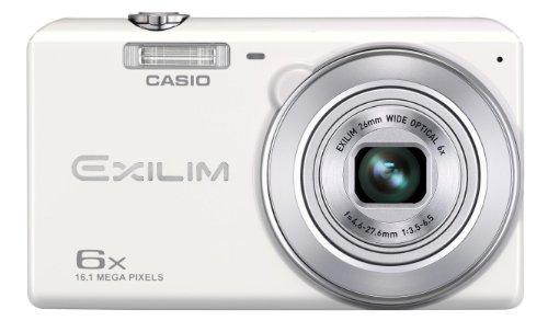 Casio Exilim EX-ZS20 Digitalkamera (16 Megapixel, 6-fach opt. Zoom, 6,9 cm (2,7 Zoll) Display, bildstabilisiert) weiß