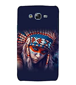 printtech Beautiful Tribal Girl Back Case Cover for Samsung Galaxy A8 / Samsung Galaxy A8 A800F