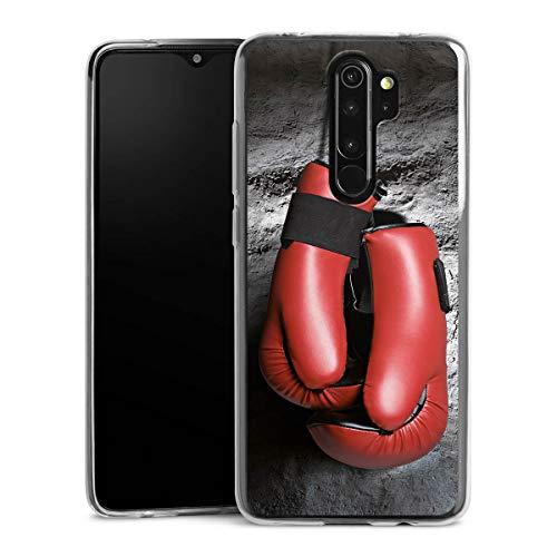 DeinDesign Slim Case kompatibel mit Xiaomi Redmi Note 8 Pro Silikon Hülle Ultra Dünn Schutzhülle Boxen Boxhandschuhe Sport