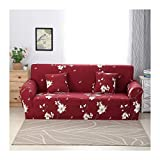 WUFANGFF Slipcover Weißes Blumenmuster Stretch Sofa Chemiefasergewebe Schonbezug Couch Covers Sofa Furniture Protector, 1Seat