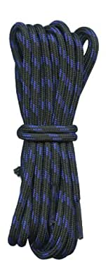 Hiking boot laces Black with blue fleck 4mm diameter (110cm length)