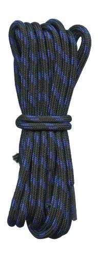 Fabmania Forte Lacets Noire avec des taches Bleues - 4 mm - idéal pour la randonnée.