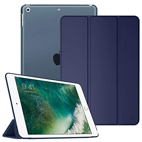 Fintie iPad 9.7 Zoll 2018/2017 Hülle - Ultradünn Superleicht Schutzhülle mit transparenter Rückseite Abdeckung Cover Case mit Auto Schlaf/Wach Funktion für Apple iPad 9,7'' 2018/2017, Marineblau