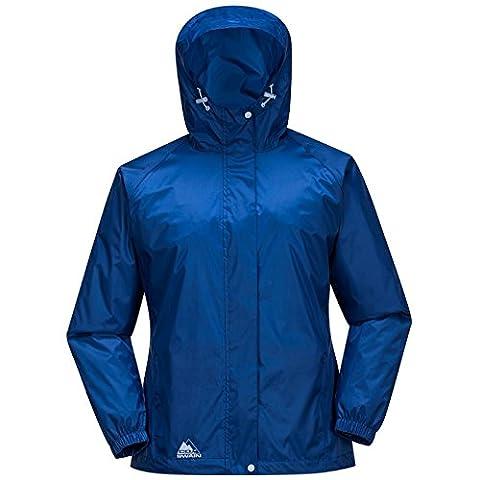COX SWAIN Damen Regenjacke MALE - mit Kapuze, super leicht!, Colour: Mazarine Blue, Size: S